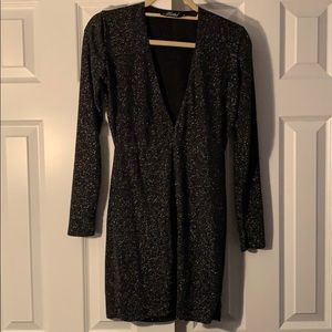 Urban Outfitters Motel Long Sleeve Black Dress